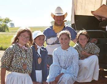 Some wagon train participants, photo by J. Turner